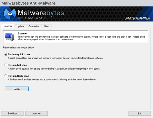 Malwarebytes Anti-Malware for Business