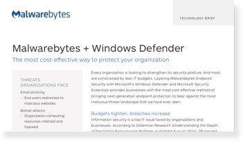 Renfort à Microsoft Windows Defender et Security Essentials