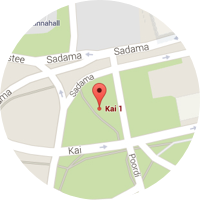 Map location of Tallinn, Estonia office