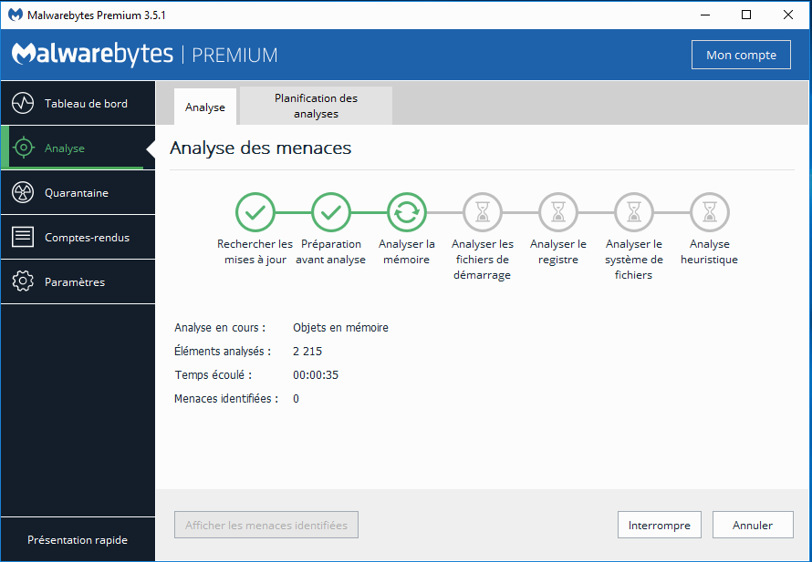 Malwarebytes Premium Dashboard screenshot